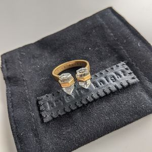 Krystle Knight Double Bullet Crystal Ring